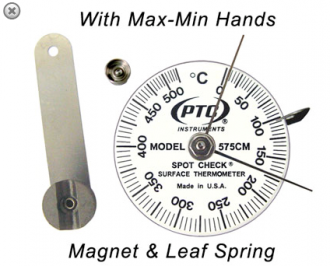 Termometro de Contacto Rango 0 a 525˚ C Marca: PTC Modelo: Spot Check 575CM