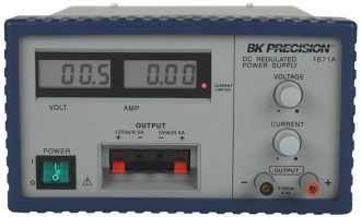Fuente de Poder Regulable 0-30 V, 0-5 A Marca BK Precision, Modelo: 1671A