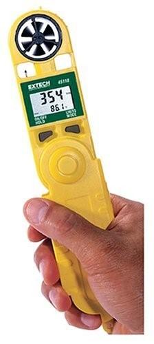 Termo-Anemómetro Digital Portátil, Marca: Extech, Modelo: 45118