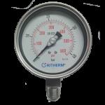 Manómetro de 0 - 600 psi (conexión de 1/2 in npt, caratula de 4 in) con glicerina
