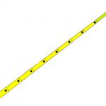 PERTIGA TELESCOPICA DE 25 PIES 7.60 MTS 6 SECCIONES MARCA HASTINGS MODELO S 225