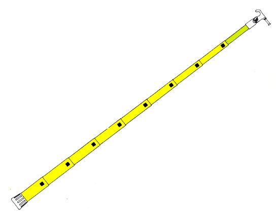 PERTIGA TELESCOPICA DE 35 PIES 10.64 MTS 8 SECCIONES MARCA HASTINGS MODELO S 235
