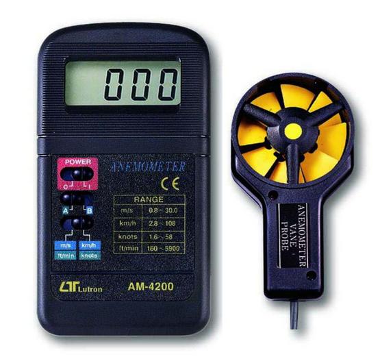 ANEMOMETRO DIGITAL 0.8-30MTS MARCA LUTRON MODELO AM 4200