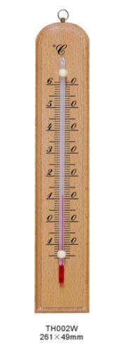 TERMOMETRO BASE MADERA ALCOHOL ROJO 25 cms de LARGO -15/60ºC MARCA BELL MODELO TH 002W