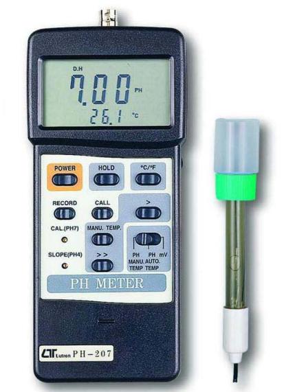 MEDIDOR DIGITAL DE PH SIN ELECTRODO MARCA LUTRON MODELO PH 207
