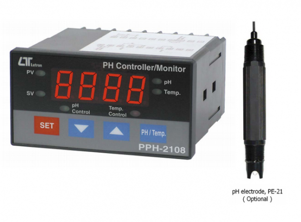 CONTROL DIGITAL DE PH MARCA LUTRON MODELO PPH 2108