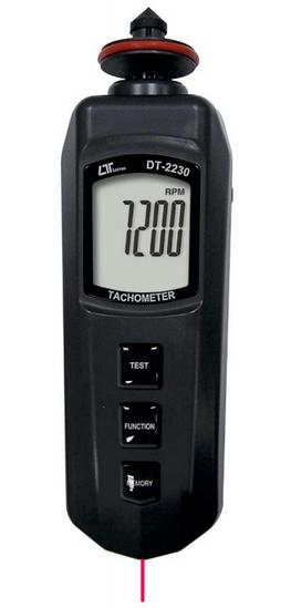 TACOMETRO DIGITAL DUAL FOTOELECTRICO 5-100.000 RPM CONTACTO 0.5-19.999 RPM MARCA LUTRON MODELO DT 2230