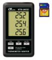 TERMOMETRO DIGITAL DATALOGGER 3 CANALES -50+1300ºC MEMORIA SD MARCA LUTRON MODELO MTM 380SD