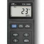 TERMOMETRO DIGITAL INFRARROJO -20+400ºC TERMOCUPLA TIPO Pt100KJTRE -501300 ºC MARCA LUTRON MODELO TM 2000