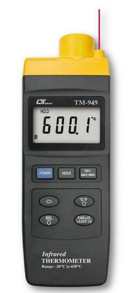 TERMOMETRO DIGITAL INFRARROJO -20+650 ºCºF MARCA LUTRON MODELO TM 949