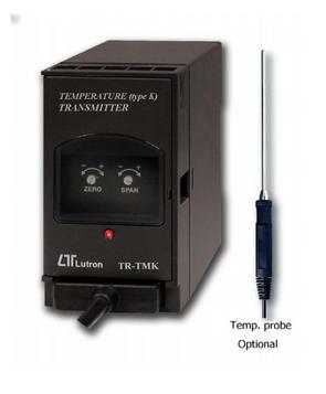 TRANSMISOR DE TEMPERATURA 4-20 ma -0-500 °C MARCA LUTRON MODELO TR TMK 1A4