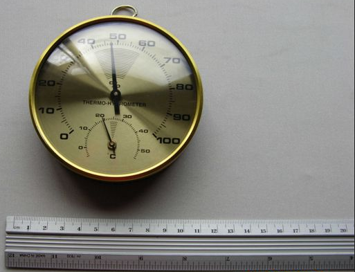 HIGROTERMOMETRO ANALOGO Ø 10 cms MARCA MEG MODELO TH 400