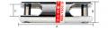 GIRADOR CAPACIDAD 350 KILOS 60 mms LARGO X 18 mms Ø MARCA PAT