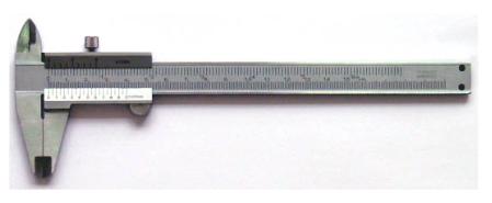 CALIBRADOR ANALOGO ACERO INOXIDABLE 8¨ 0-200 mms