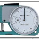 MEDIDOR ANALOGO DE ESPESORES MANUAL 0-10 mms 0.1 mm MARCA QINGDAO MODELO 101 7110