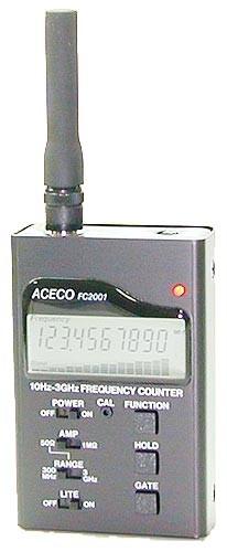 FRECUENCIMETRO DIGITAL 10 Hz - 3 Ghz MARCA ACECO MODELO FC 2001