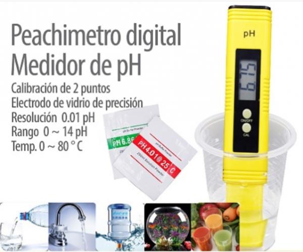 MEDIDOR DIGITAL DE PH CALIBRACION DE 2 PUNTOS Genérico