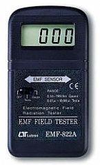 MEDIDOR RAD. ELECTROMAGN. 0-200MGAUSS 0-20 MICTESLA MARCA LUTRON MODELO EMF 822A
