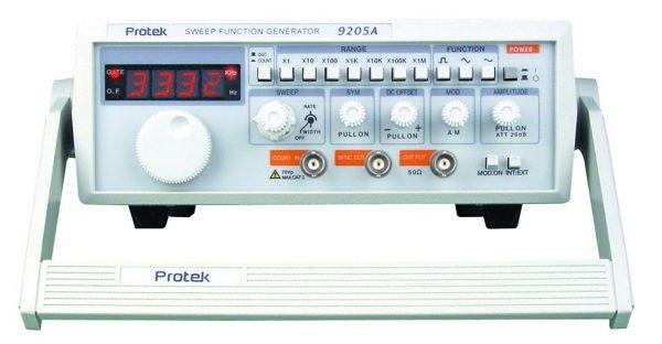 GENERADOR DE FUNCIONES 0.03Hz - 3 Mhz (7 RANGOS) MARCA PROTEK MODELO 9205A