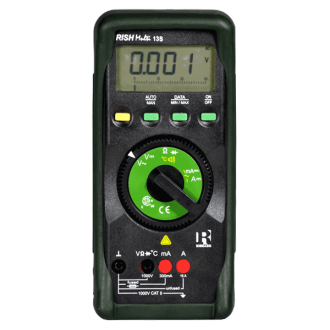 MULTIMETRO DIGITAL 1000 V AC/DC TEMPERATURA MARCA RISHBAH MODELO 13S