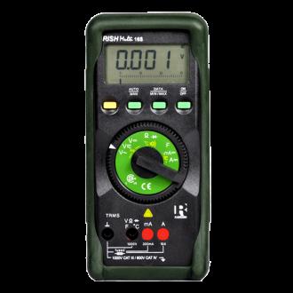 MULTIMETRO DIGITAL 1000 VAC/DC FREC. CAPAC. TEMP. RMS MARCA RISHBAH MODELO 16S