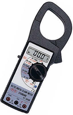 PINZA DIGITAL AC/DC 1500 AMPS DCV 1000 ACV 750 DIODOS MARCA SEW MODELO ST 3600