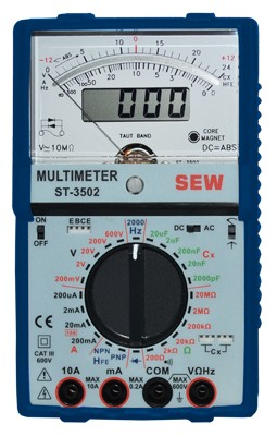MULTIMETRO ANALOGO DIGITAL, FREC, RES,GALVANOMETRO MARCA SEW MODELO ST 3502