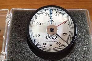 TERMOMETRO DE CONTACTO RANGO DE -20 A 120 ºC, MARCA: PTC, MODELO 312 C
